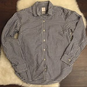 GAP | Navy and White Gingham Button Down